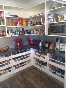 butlers pantry, blum drawer system
