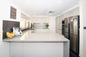 Corowa cabinets, TH Kitchens, concrete formwood