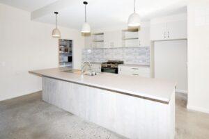 concrete look kitchen